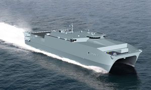 Austal's bid-winning concept for the Joint High Speed Vessel. Image courtesy US Navy.