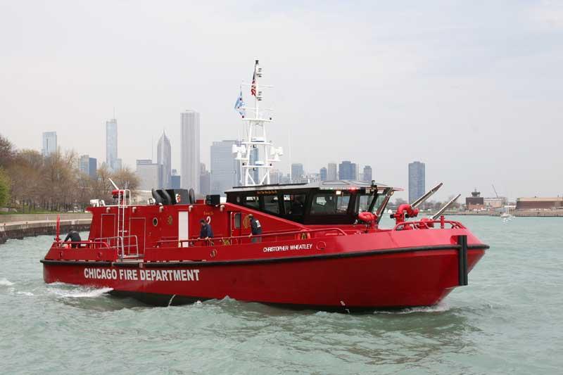 """Ranger 2700 Class fireboat Christopher Wheatley"""""""