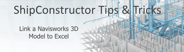 Tips & Tricks Link a Navisworks 3D Model to Excel