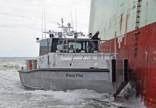 Metal-Shark-Delivers-New-Pilot-Boat-to-Brazos-Pilots-New-Technology-Pillarless-Glass-Improved-Visibility-Pilot-Association-Monohull-Vessel.