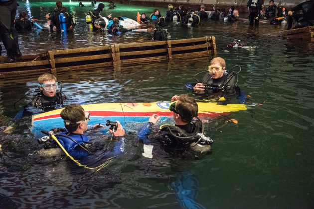 UVic sub in water
