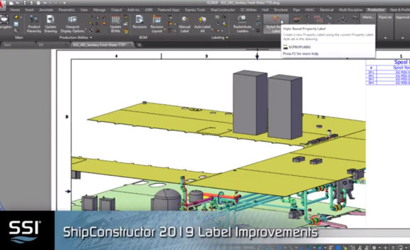 Label Improvements in ShipConstructor 2019