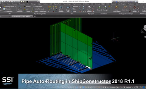 Pipe Auto-Routing in ShipConstructor 2018 R1.1