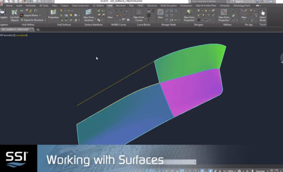 Working with Surfaces in ShipConstructor