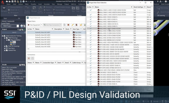 SSI 2021 R2.1 P&ID/PIL Design Validation Enhancements